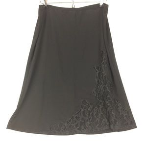 BCBG Maxazria Essentials Blace Lace Skirt Size M